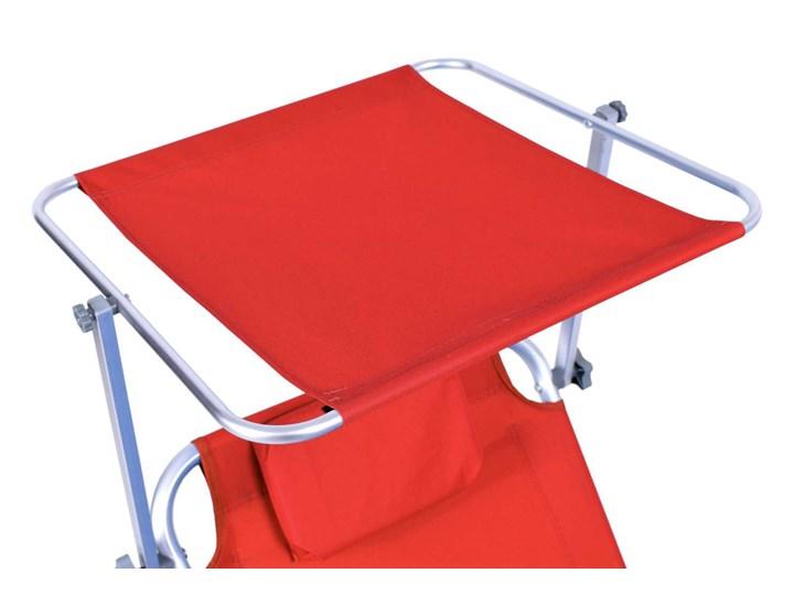 Leżak plażowy z kółkami Martin - RED Na kółkach Aluminium Z regulowanym oparciem Kolor Czerwony
