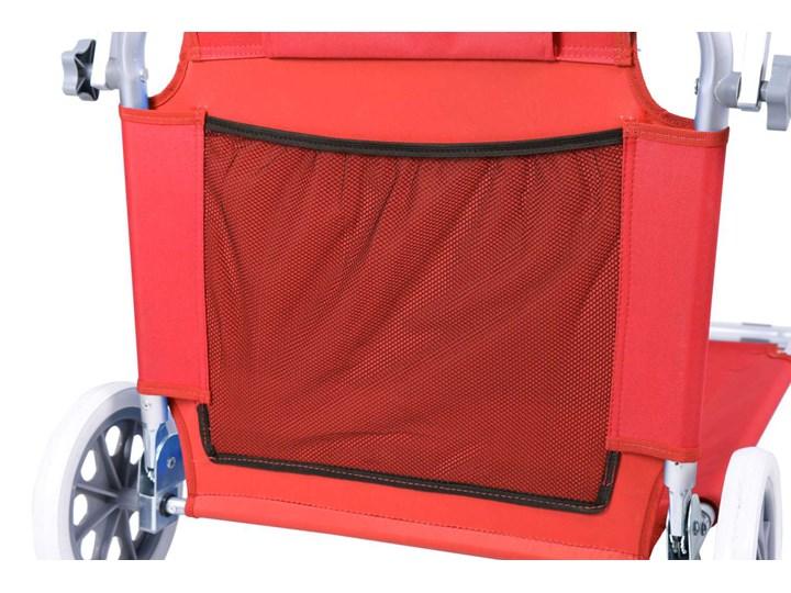Leżak plażowy z kółkami Martin - RED Kolor Czerwony Z regulowanym oparciem Aluminium Na kółkach Kategoria Leżaki ogrodowe