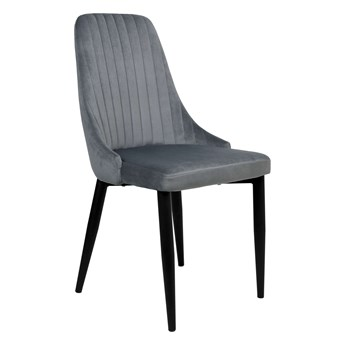 Krzesło aksamitne Lorient Velvet Grafitowy