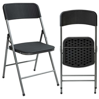 Krzesło cateringowe WOODY - grafitowe