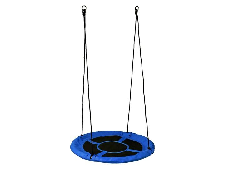 Huśtawka ogrodowa bocianie gniazdo ROMEK niebieska 100cm Metal Pianka Kategoria Huśtawki dla dzieci