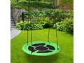 Huśtawka ogrodowa bocianie gniazdo ROMEK zielona 100cm Metal Pianka Kategoria Huśtawki dla dzieci