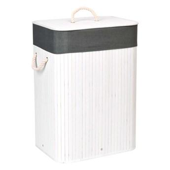 Kosz bambusowy na pranie 80L biało-szary