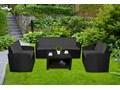 Zestaw mebli ogrodowych  SIESTA GRAFIT - GRAFIT Zestawy wypoczynkowe Rattan Tworzywo sztuczne Kolor Czarny
