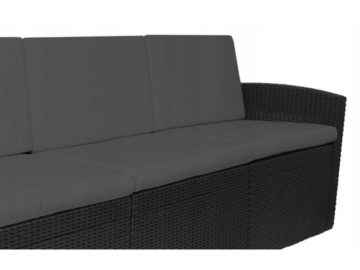 Zestaw mebli ogrodowych  SIESTA GRAFIT - GRAFIT Zestawy wypoczynkowe Zestawy kawowe Rattan Tworzywo sztuczne Zawartość zestawu Sofa