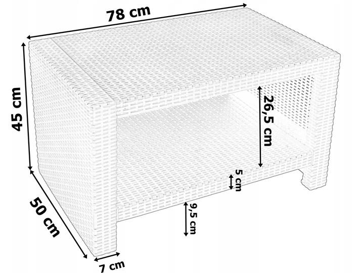 Zestaw mebli ogrodowych  SIESTA GRAFIT - GRAFIT Zestawy wypoczynkowe Tworzywo sztuczne Zestawy kawowe Zawartość zestawu Fotele Rattan Zawartość zestawu Sofa
