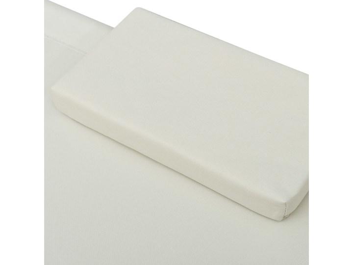 vidaXL Leżanka ogrodowa, tkanina, kremowa Leżanki Metal Kolor Beżowy Kolor Biały