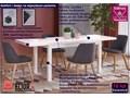 Minimalistyczny stół rozkładany Selen 2X - biały Szerokość 80 cm Długość 80 cm  Wysokość 76 cm Długość 220 cm Rozkładanie Rozkładane