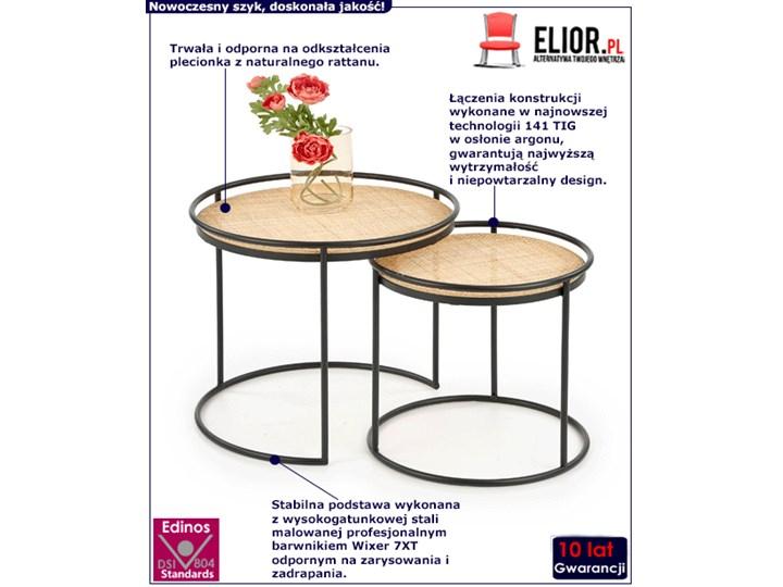 Zestaw loftowych stolików kawowych Artelia Zestaw stolików Wysokość 51 cm Kolor Beżowy
