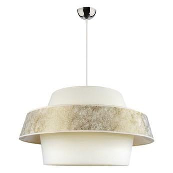 Lampa wisząca Andromeda z designerskim abażurem Biały/srebrny