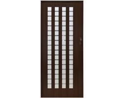 Drzwi harmonijkowe 015 B01-7291-86 orzech mat 86 cm