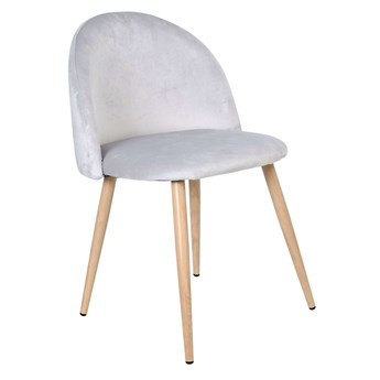 Krzesło aksamitne K-JAZZ VELVET srebrne