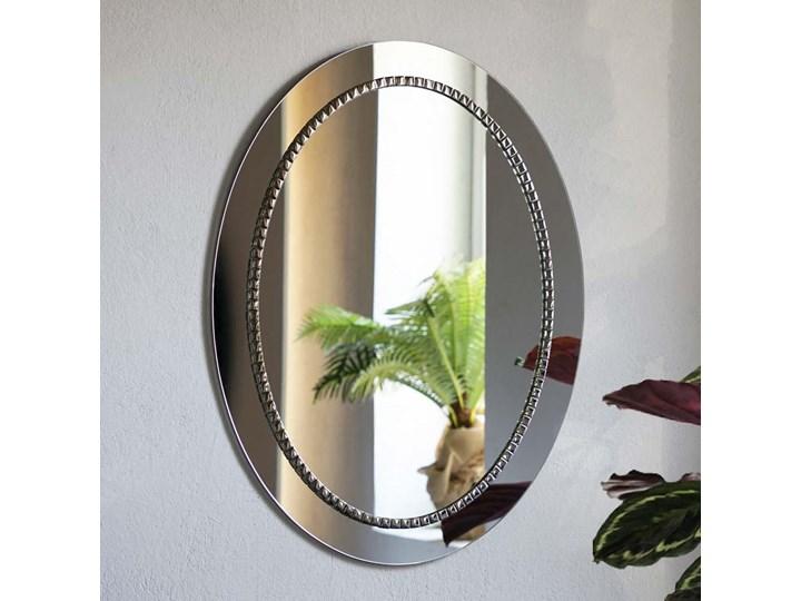 Lustro Bracelet owalne – w srebrnej ramie Pomieszczenie Łazienka Ścienne Lustro z ramą Pomieszczenie Sypialnia