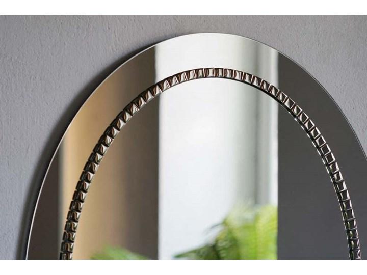 Lustro Bracelet owalne – w srebrnej ramie Lustro z ramą Ścienne Kolor Srebrny Styl Klasyczny