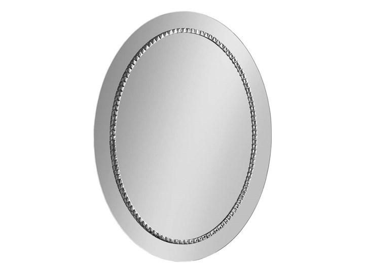 Lustro Bracelet owalne – w srebrnej ramie Lustro z ramą Ścienne Pomieszczenie Przedpokój Pomieszczenie Salon