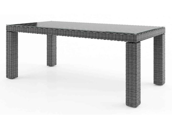 Meble ogrodowe RAPALLO 220 royal szare Rattan Tworzywo sztuczne Aluminium Technorattan Zawartość zestawu Stół