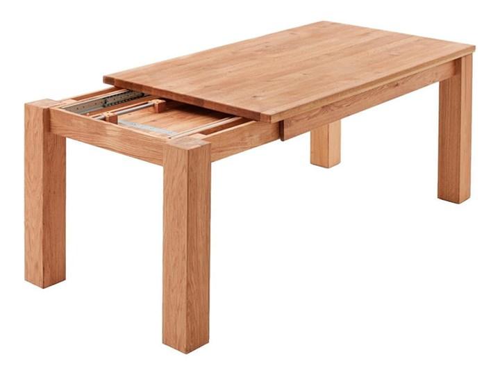 Stół dębowy rozkładany Blox Soolido Meble Metal Pomieszczenie Stoły do salonu Wysokość 78 cm Kamień Drewno Ceramika Rozkładanie Rozkładane