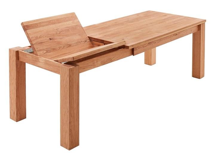 Stół dębowy rozkładany Blox Soolido Meble Wysokość 78 cm Ceramika Kamień Metal Pomieszczenie Stoły do salonu Drewno Rozkładanie Rozkładane