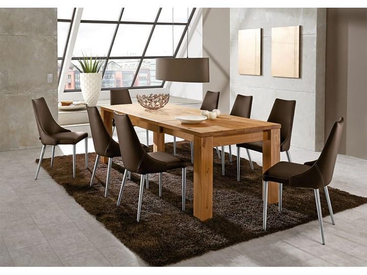 Stół dębowy rozkładany Blox Soolido Meble Wysokość 78 cm Drewno Metal Ceramika Kamień Pomieszczenie Stoły do kuchni