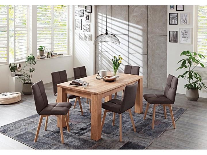 Stół dębowy rozkładany Blox Soolido Meble Ceramika Wysokość 78 cm Kamień Drewno Metal Pomieszczenie Stoły do jadalni