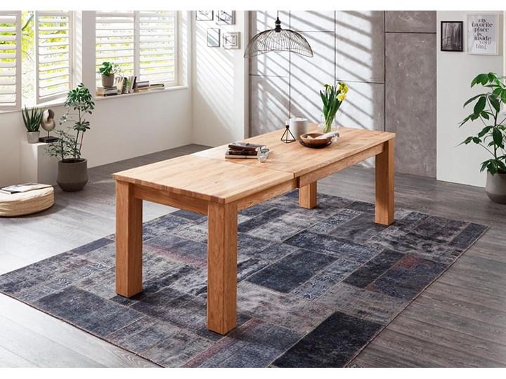 Stół dębowy rozkładany Blox Soolido Meble Ceramika Wysokość 78 cm Kamień Pomieszczenie Stoły do salonu Drewno Metal Rozkładanie Rozkładane
