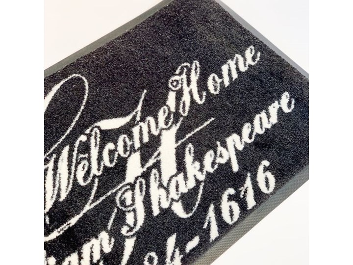 """WYCIERACZKA GUMOWANA CZARNA NAPIS  MOST WELCOME HOME MC """"45 X 75 CM Kolor Czarny Kategoria Wycieraczki"""
