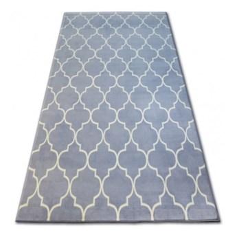 """Dywan szary wzor biały  koniczyna marokańska  wybierz rozmiar""""TRELLIS BASE """"     140x190cm"""