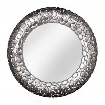 Lustro Rock Mosaic 82 cm srebrny