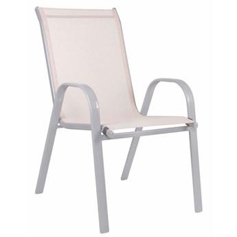 Krzesło ogrodowe metalowe beżowe na balkon