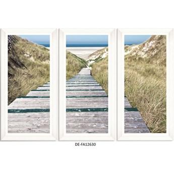 Obraz trzyczęściowy Beach Alley Tryptich 150x100 DE-FA12630 MINDTHEGAP DE-FA12630