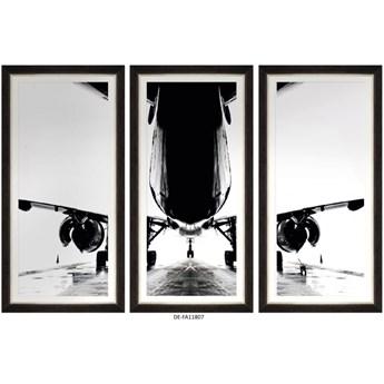 Obraz trzyczęściowy Aircraft Silhouette Tryptich 150x100 DE-FA11807 MINDTHEGAP DE-FA11807