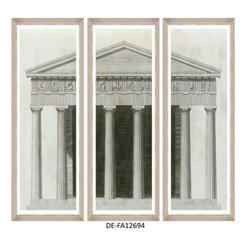 Obraz trzyczęściowy Roman Aedificium Tryptich 150x100 DE-FA12694 MINDTHEGAP DE-FA12694 | SPRAWDŹ RABAT W KOSZYKU !