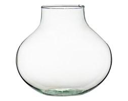 Szklany wazon W-591 H:24cm D:26cm
