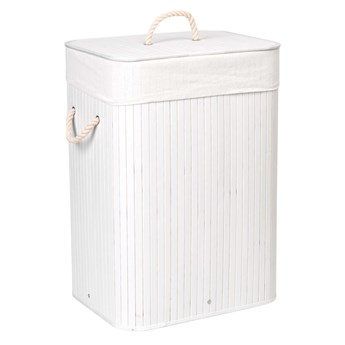 Kosz bambusowy na pranie 80L 1 komora biały