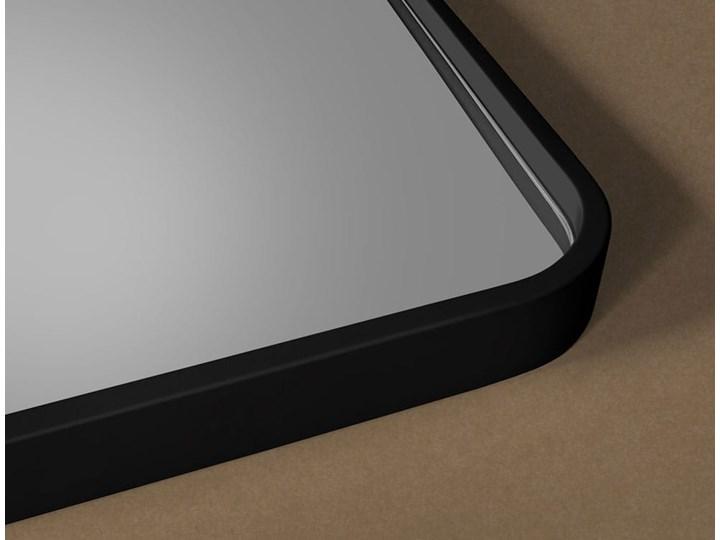 Lustro Billet – czarne z zaokrąglonymi rogami Lustro z ramą Prostokątne Ścienne Pomieszczenie Przedpokój