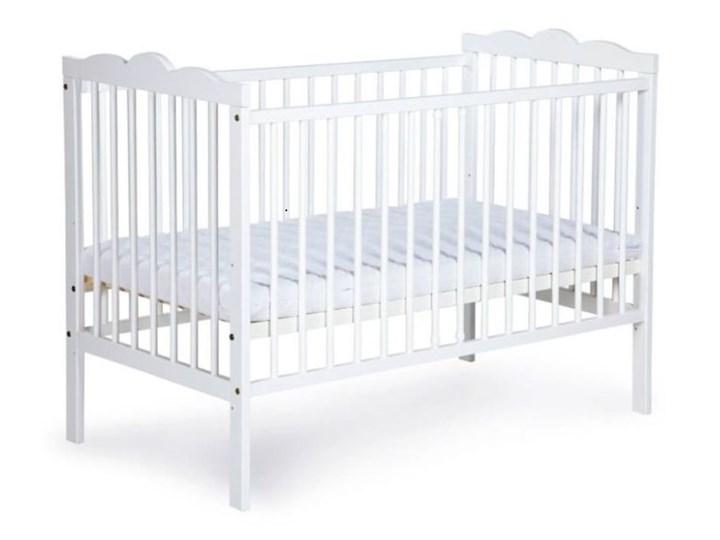 KLUPŚ Drewniane łóżeczko OLIVER biały 120x60