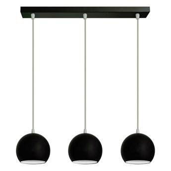 Czarno-biała lampa metalowa MARION W-L 1802/3 BK+WT