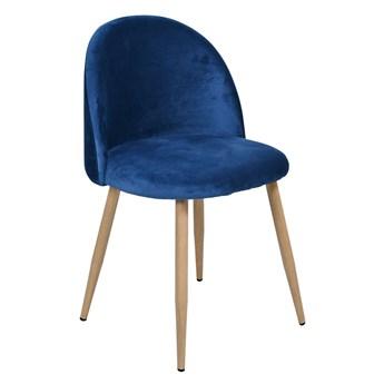 Krzesło aksamitne K-JAZZ VELVET granatowe