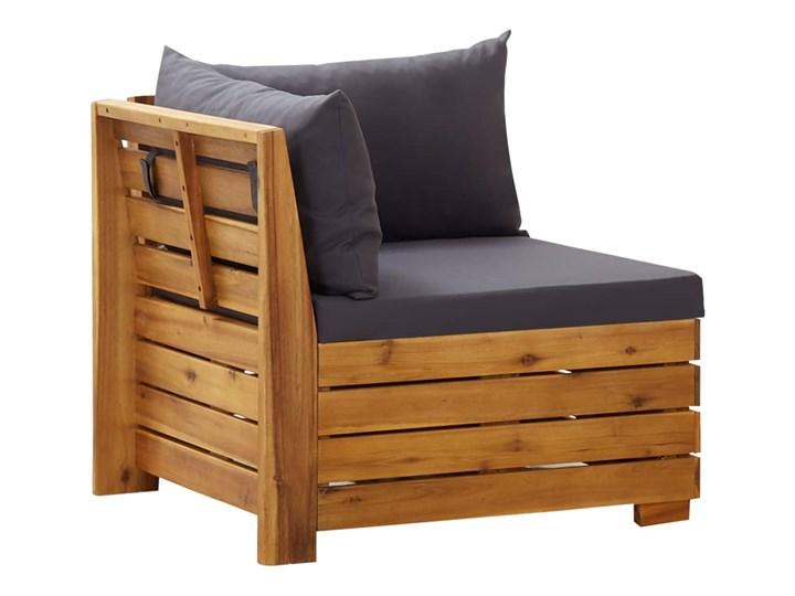 vidaXL 5-cz. zestaw mebli ogrodowych + poduszki, akacjowy, ciemnoszary Zestawy wypoczynkowe Drewno Zawartość zestawu Stolik Styl Rustykalny