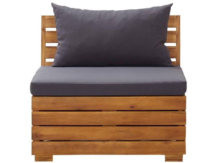 vidaXL 5-cz. zestaw mebli ogrodowych + poduszki, akacjowy, ciemnoszary Zestawy wypoczynkowe Drewno Zawartość zestawu Stolik