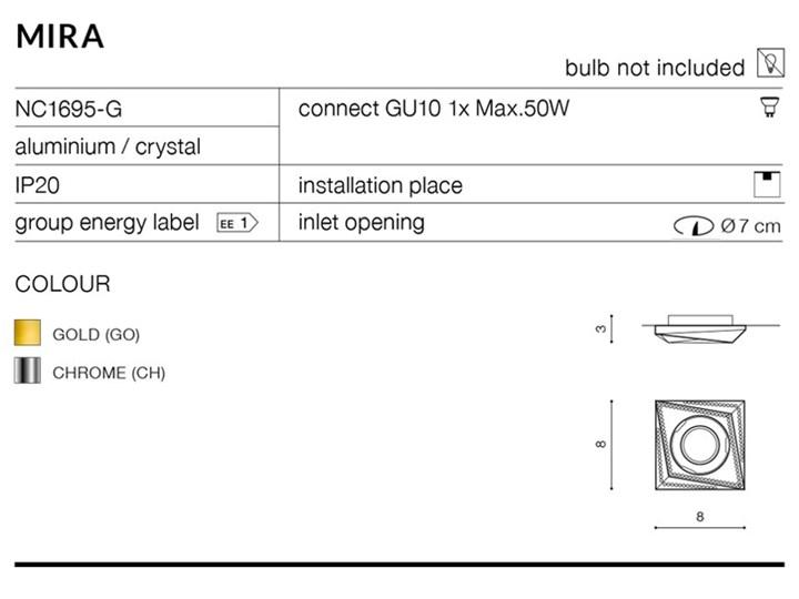 MIRA Oprawa led Kwadratowe Oprawa stropowa Kategoria Oprawy oświetleniowe