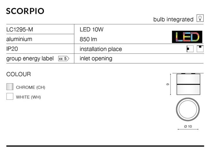 SCORPIO Okrągłe Oprawa led Oprawa stropowa Kategoria Oprawy oświetleniowe