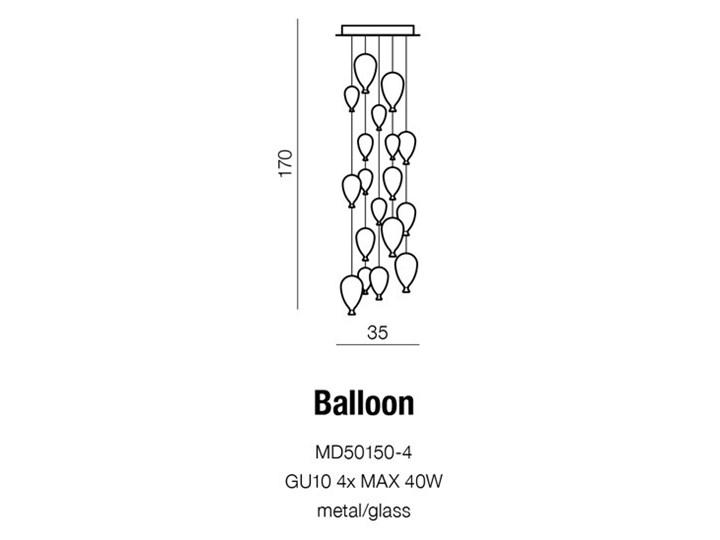 BALLOON Szkło Lampa LED Metal Kategoria Lampy wiszące