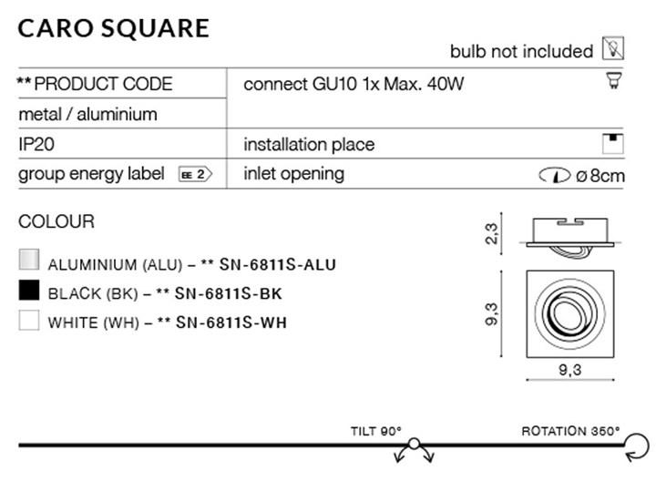 CARO S Oprawa led Kwadratowe Oprawa stropowa Kategoria Oprawy oświetleniowe