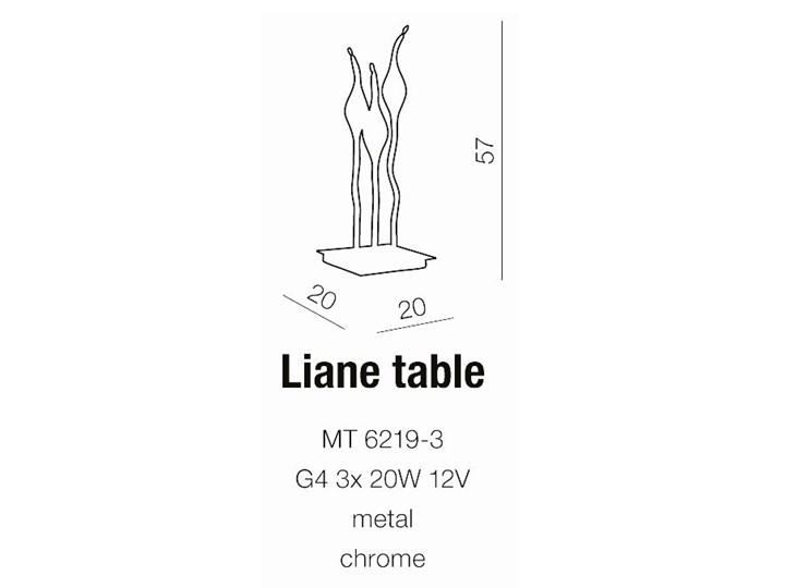 Lampa stołowa Liane Wysokość 57 cm Lampa dekoracyjna Kolor Srebrny