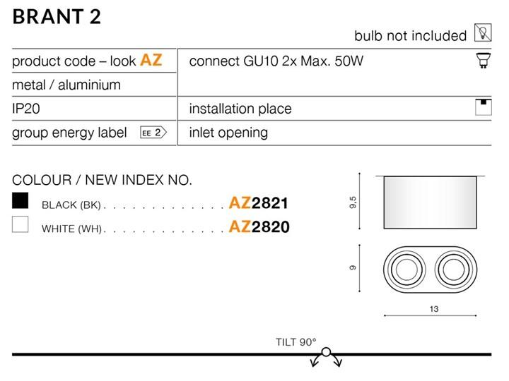 BRANT 2 ROUND Oprawa led Okrągłe Kategoria Oprawy oświetleniowe Oprawa stropowa Kolor Czarny
