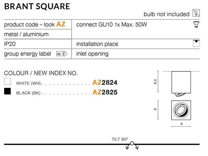 BRANT SQUARE Kwadratowe Oprawa led Oprawa stropowa Kategoria Oprawy oświetleniowe