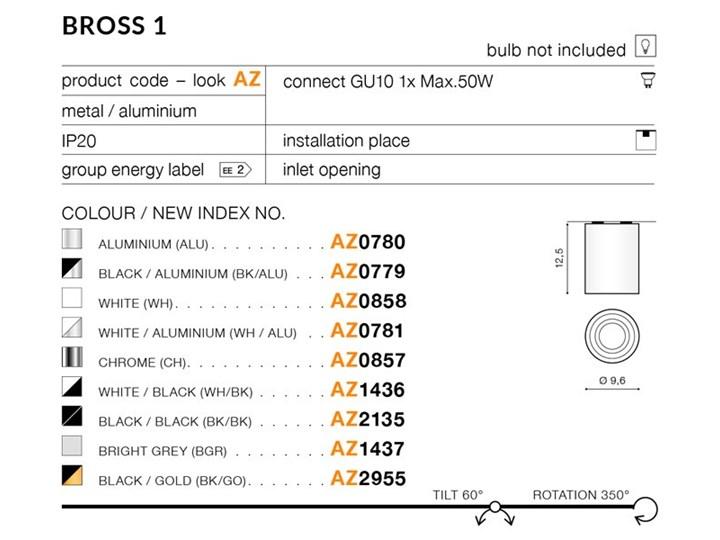 BROSS 1 Okrągłe Oprawa led Kategoria Oprawy oświetleniowe Oprawa stropowa Kolor Czarny