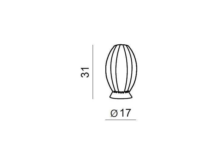 Lampa stołowa Elba AZzardo Wysokość 30 cm Lampa z kloszem Lampa dekoracyjna Styl Nowoczesny