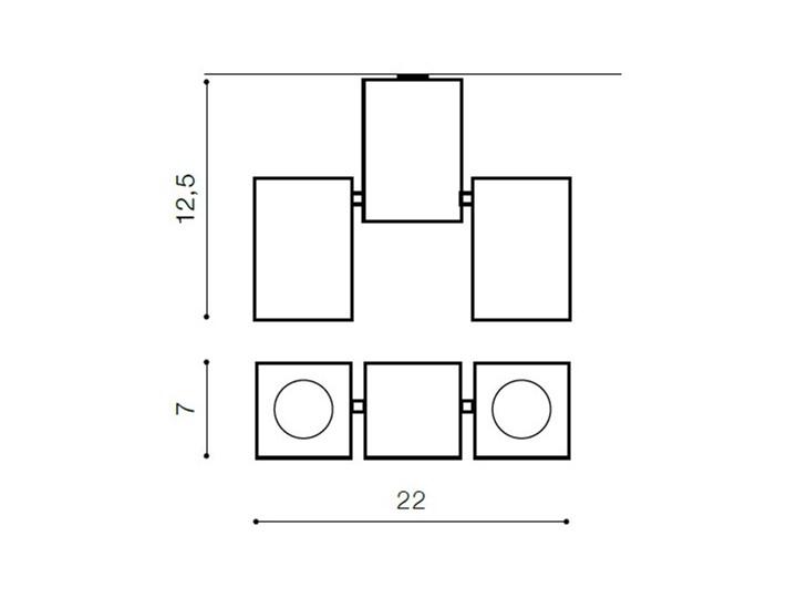 Lampa techniczna Flavio 2 Kategoria Oprawy oświetleniowe Oprawa halogenowa Kwadratowe Oprawa stropowa Kolor Biały